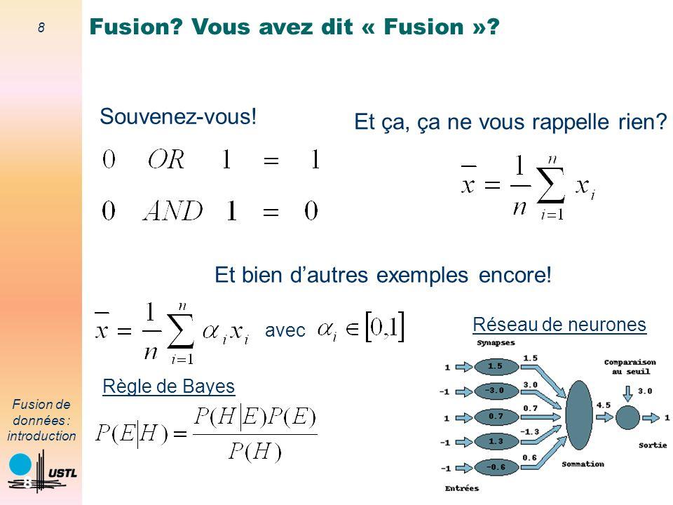 Fusion Vous avez dit « Fusion »