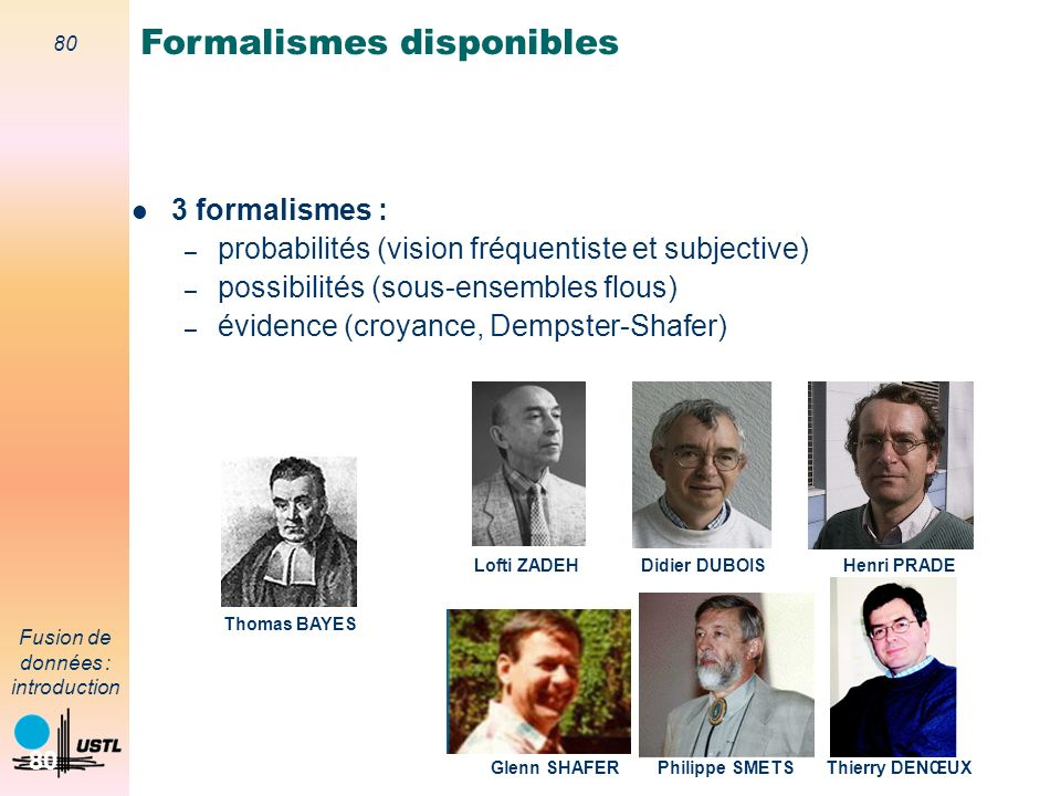 Formalismes disponibles
