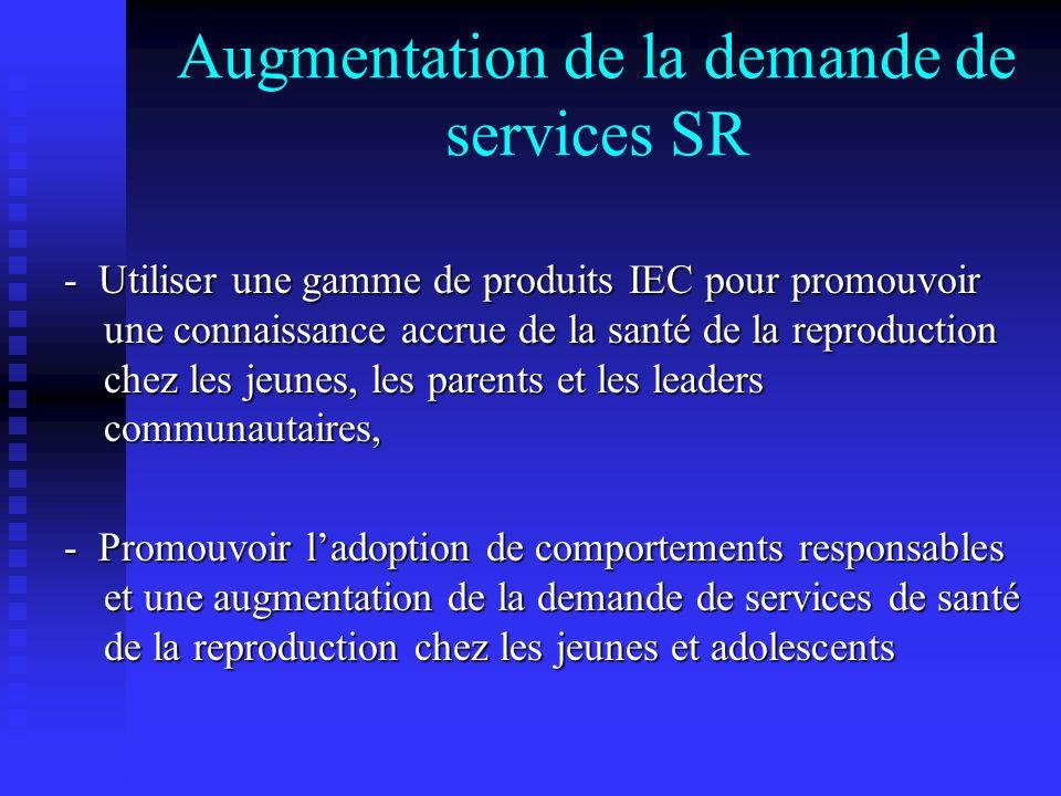 Augmentation de la demande de services SR