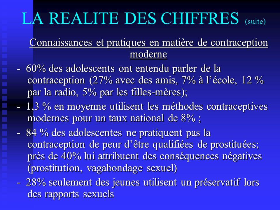 LA REALITE DES CHIFFRES (suite)