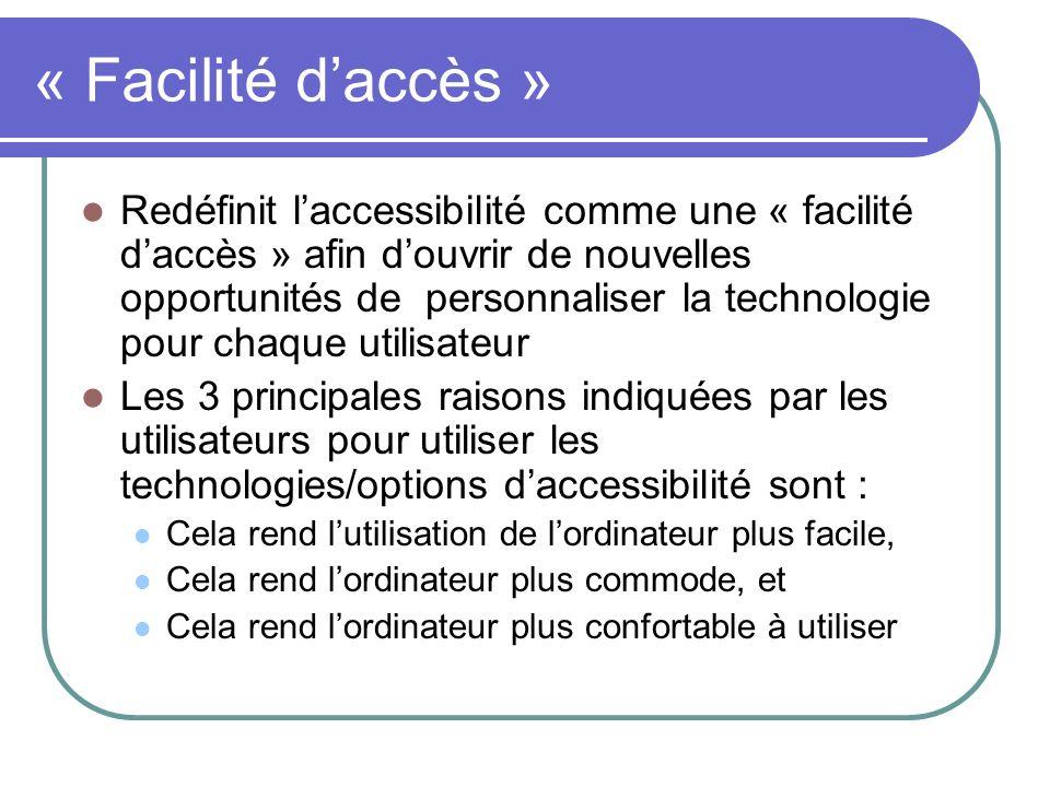 « Facilité d'accès »