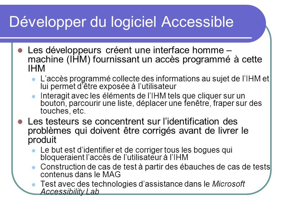 Développer du logiciel Accessible