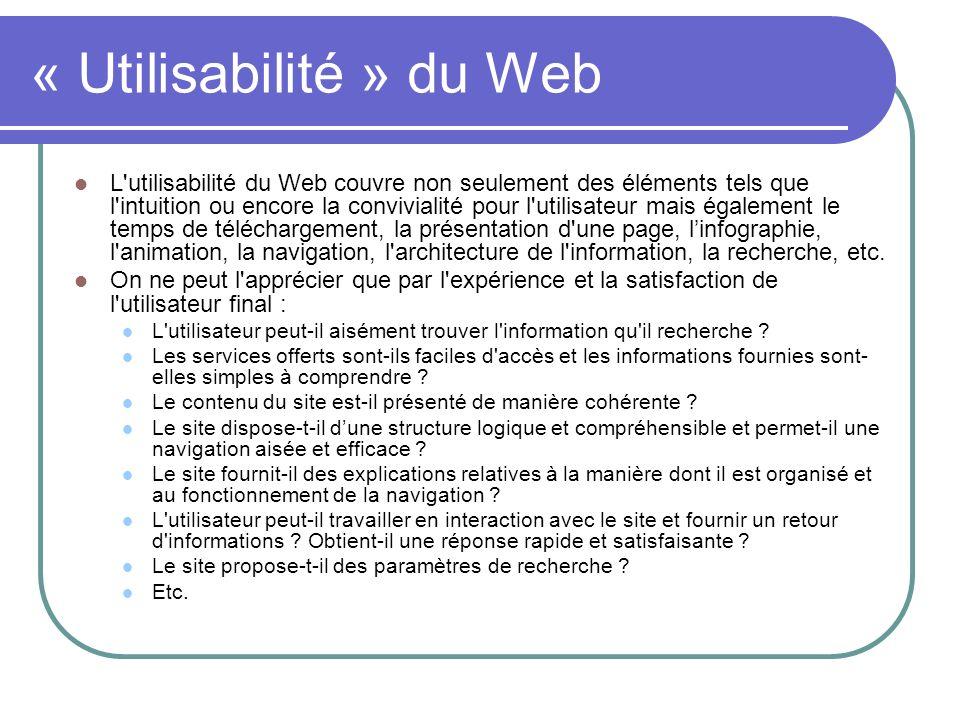 « Utilisabilité » du Web