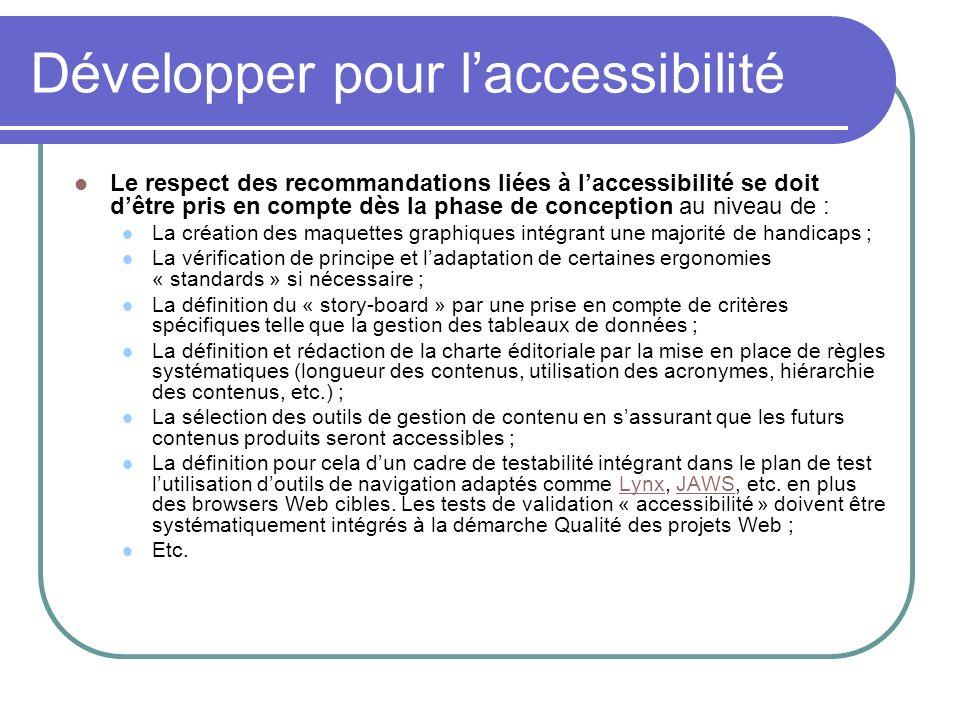 Développer pour l'accessibilité