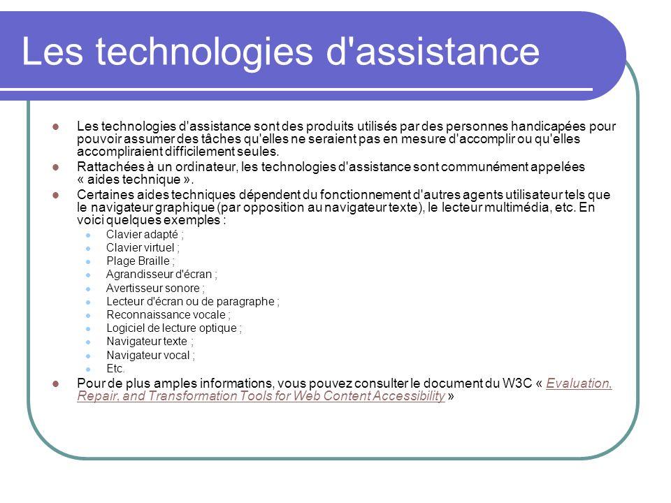 Les technologies d assistance