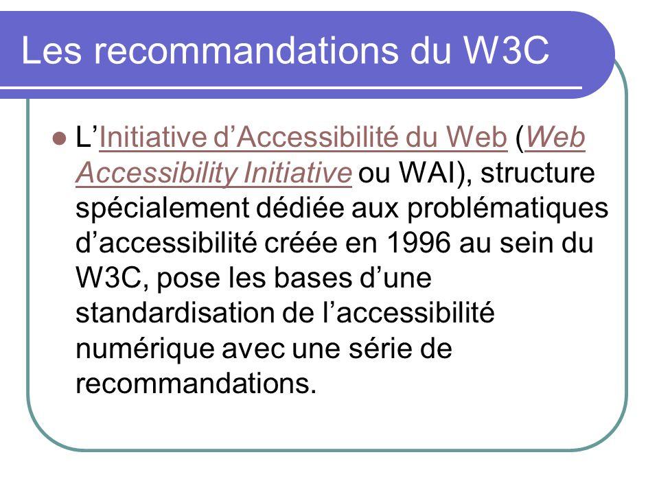 Les recommandations du W3C