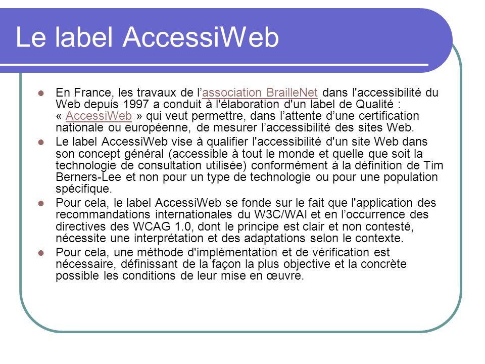 Le label AccessiWeb