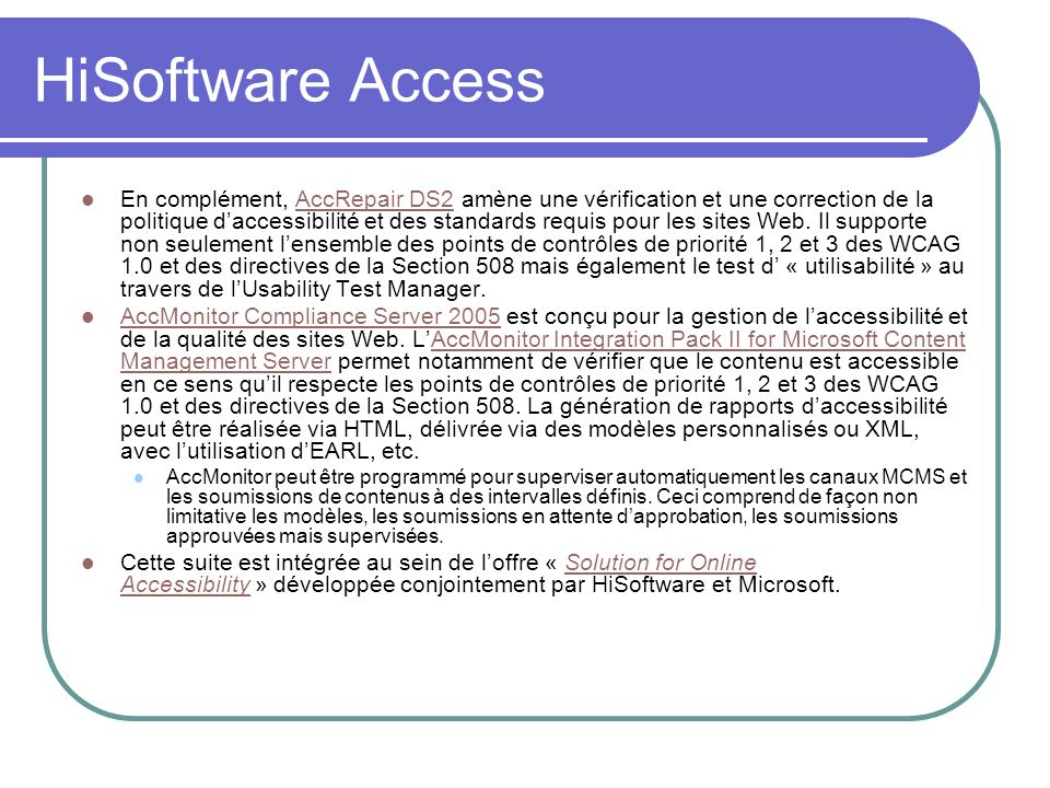 HiSoftware Access