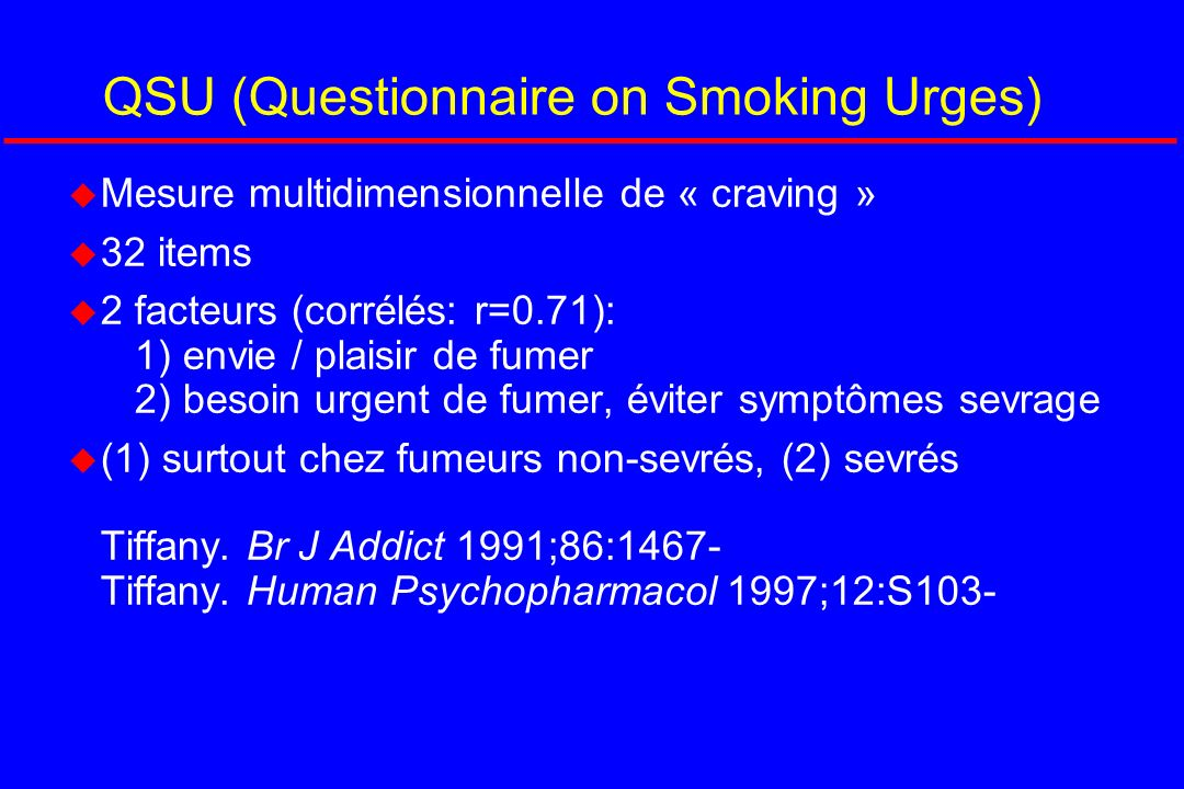 QSU (Questionnaire on Smoking Urges)