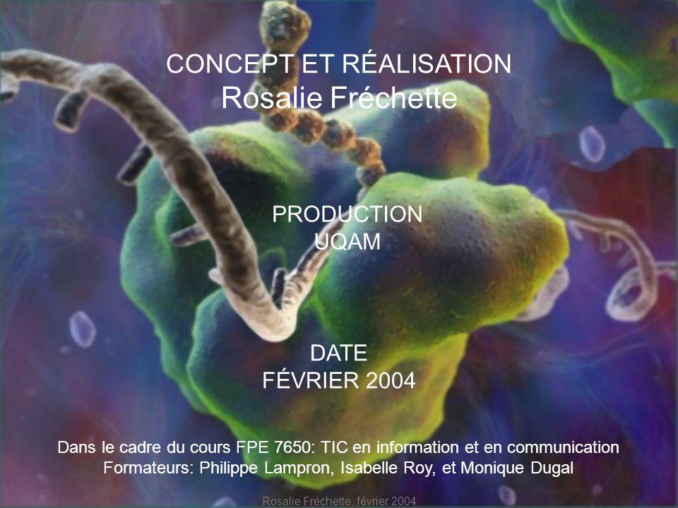 Rosalie Fréchette CONCEPT ET RÉALISATION PRODUCTION UQAM DATE