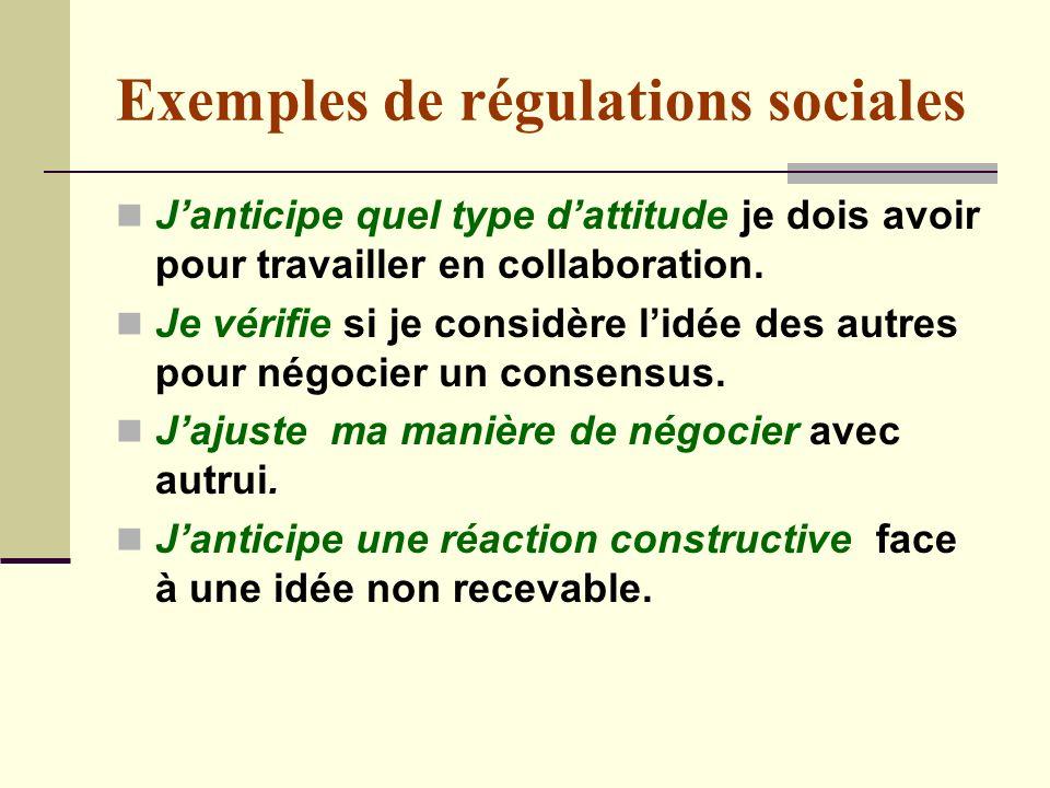 Exemples de régulations sociales