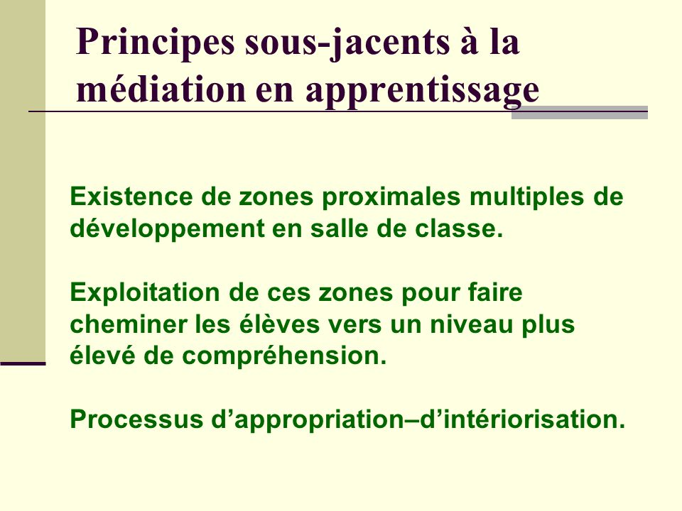 Principes sous-jacents à la médiation en apprentissage