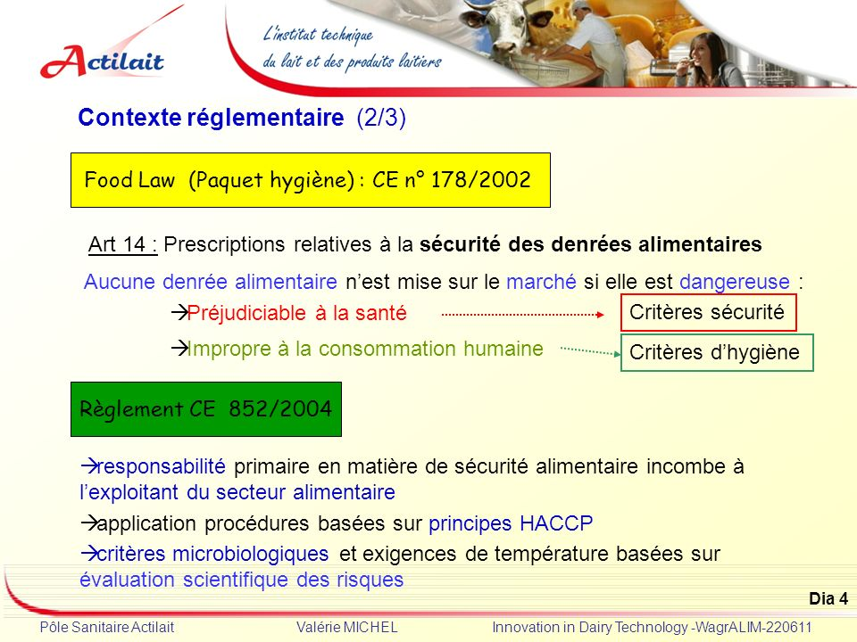 Food Law (Paquet hygiène) : CE n° 178/2002