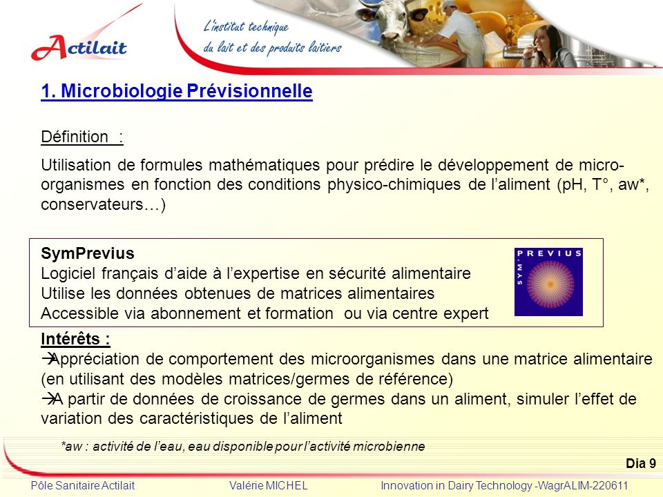 1. Microbiologie Prévisionnelle