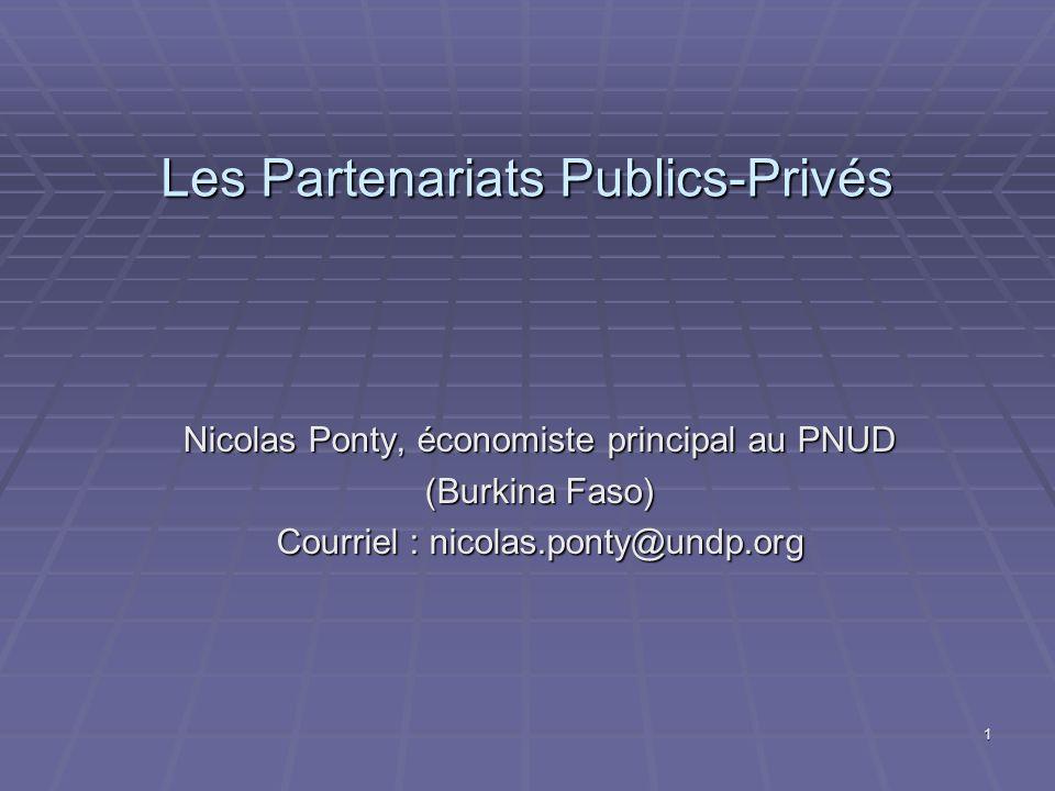 Les Partenariats Publics-Privés