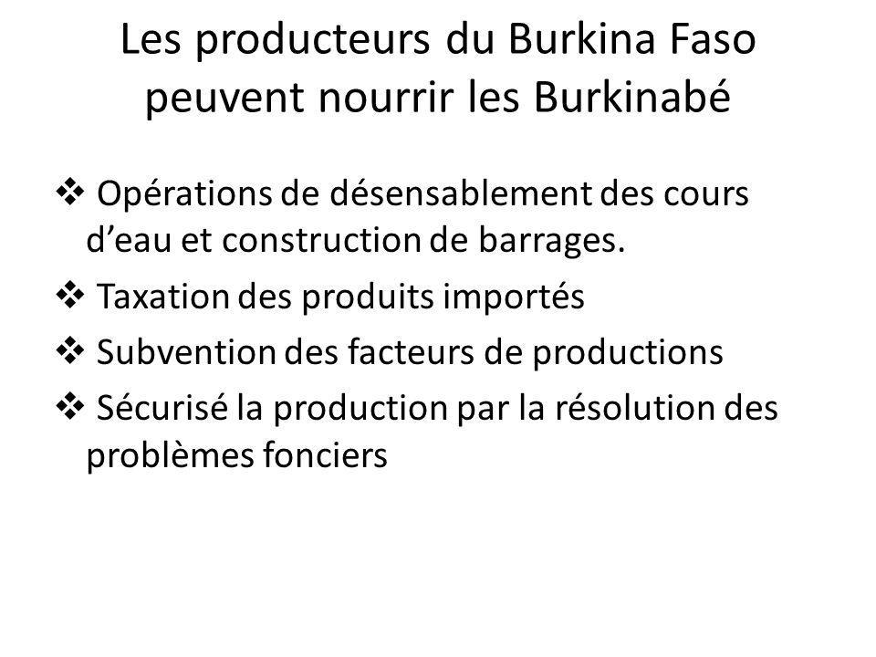 Les producteurs du Burkina Faso peuvent nourrir les Burkinabé