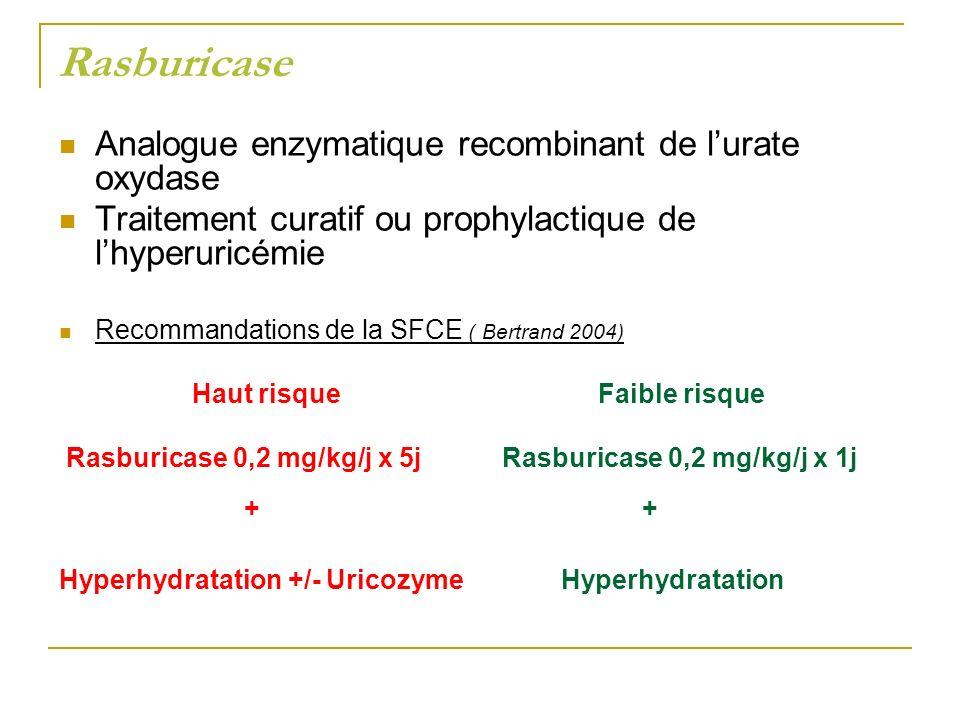 Rasburicase Analogue enzymatique recombinant de l'urate oxydase