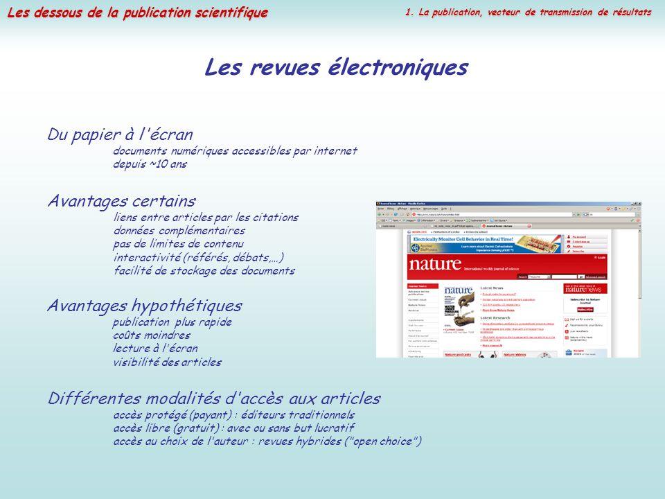 Les revues électroniques