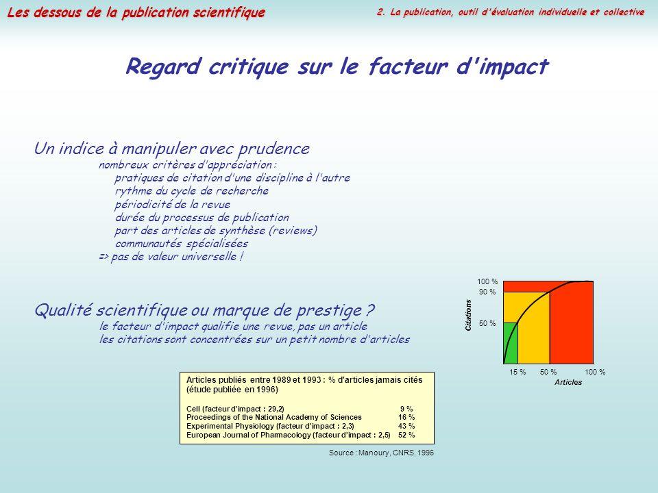 Regard critique sur le facteur d impact