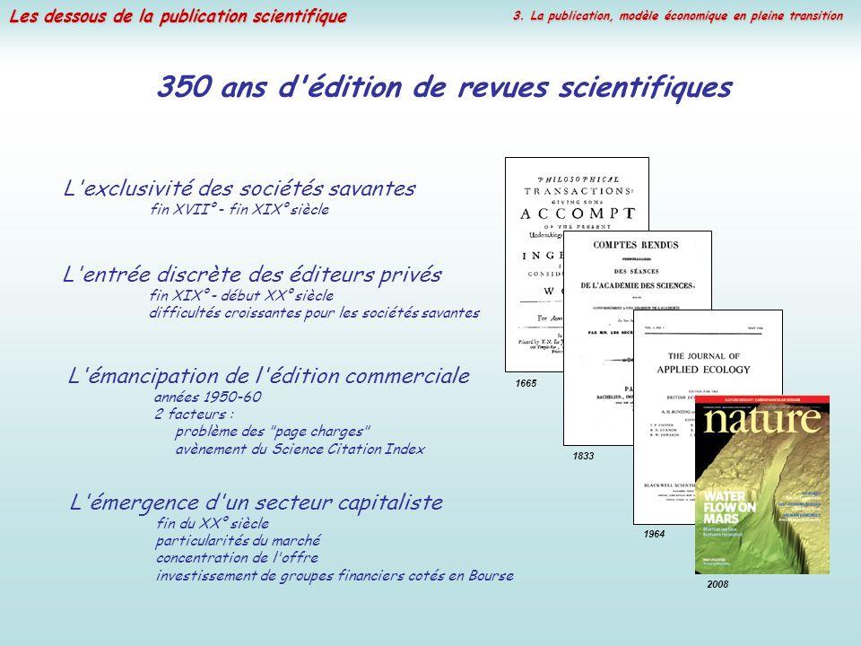 350 ans d édition de revues scientifiques