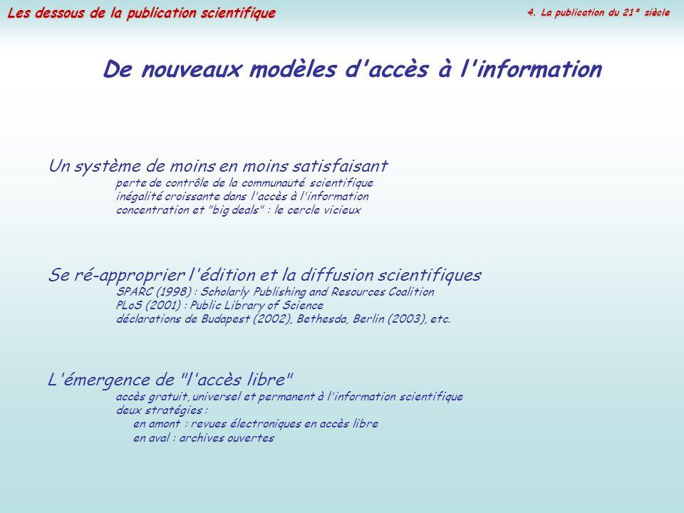 De nouveaux modèles d accès à l information