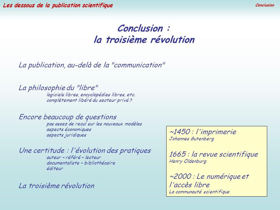 la troisième révolution