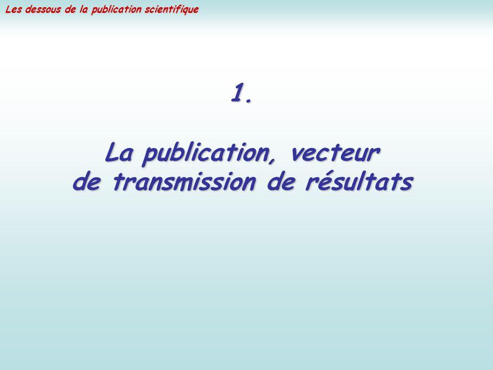 La publication, vecteur de transmission de résultats