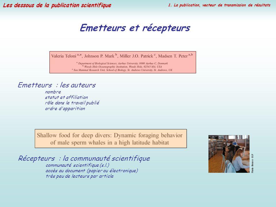 Emetteurs et récepteurs