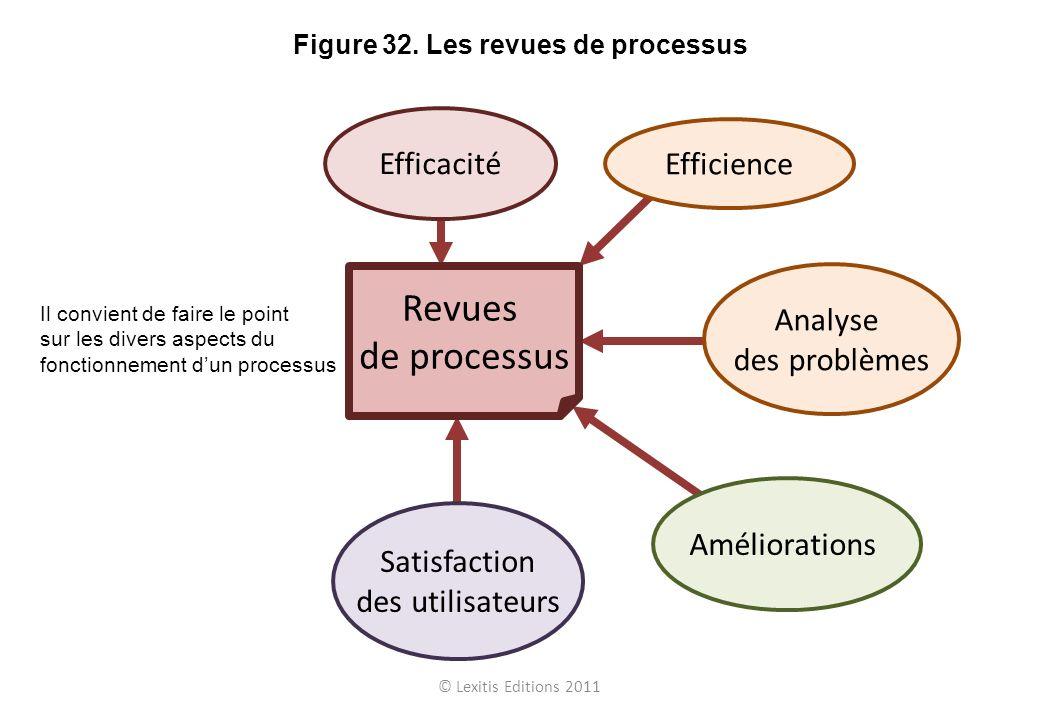 Figure 32. Les revues de processus