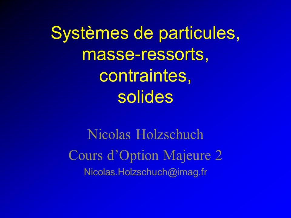 Systèmes de particules, masse-ressorts, contraintes, solides