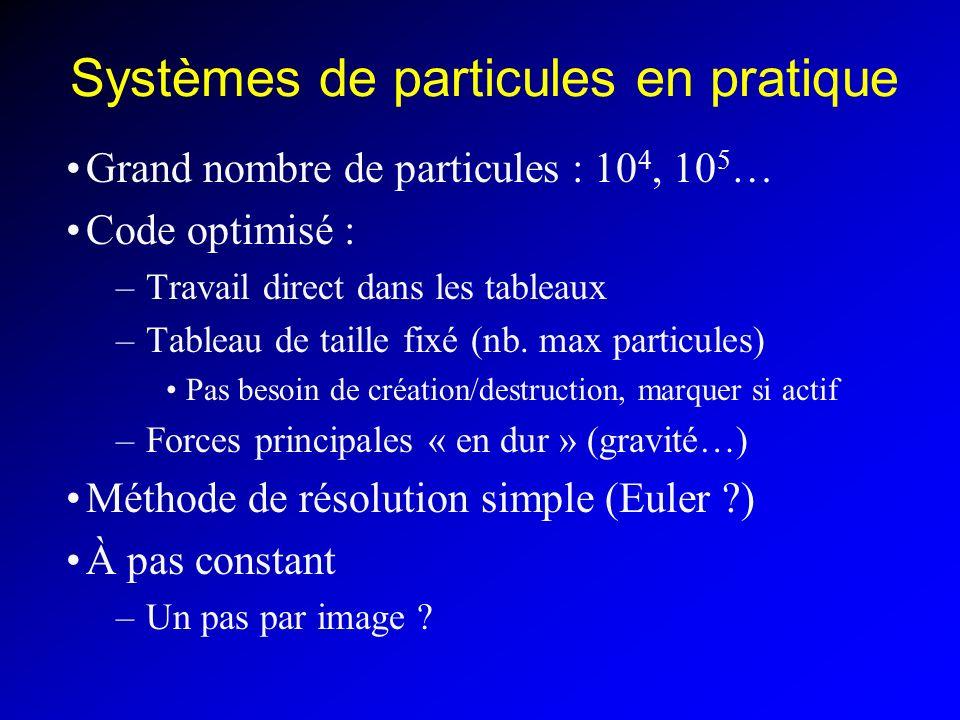 Systèmes de particules en pratique