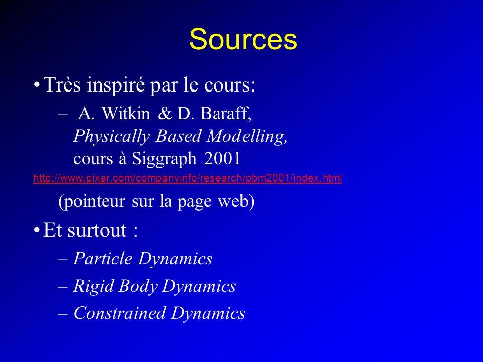 Sources Très inspiré par le cours: Et surtout :