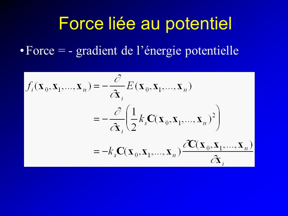 Force liée au potentiel