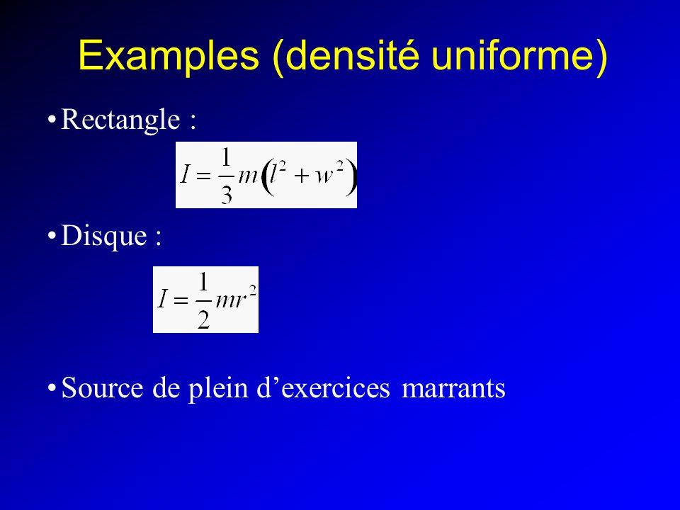 Examples (densité uniforme)