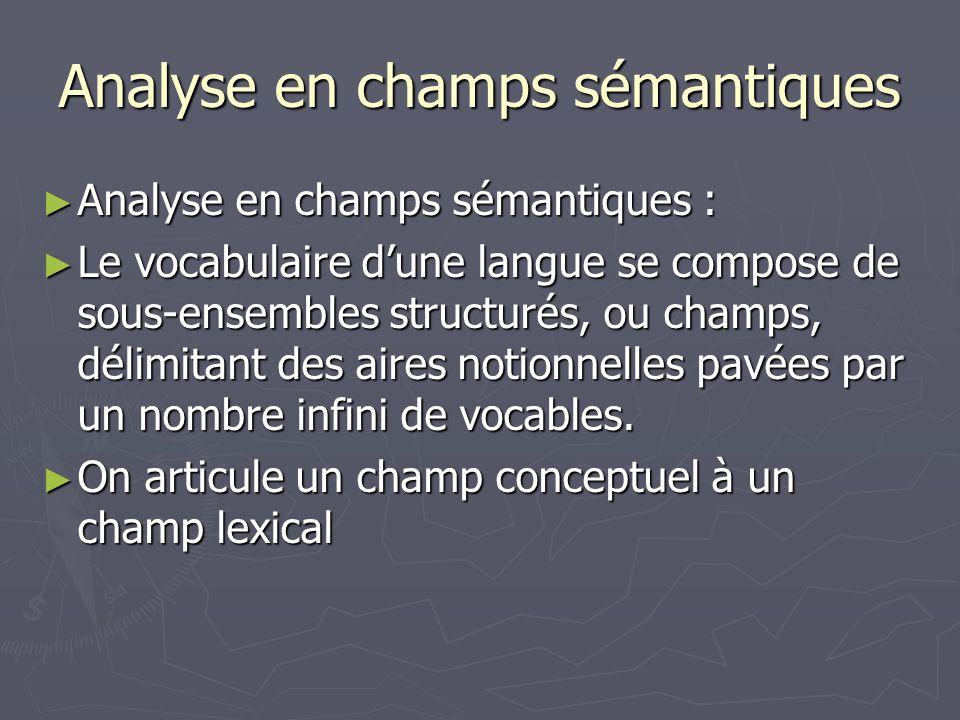 Analyse en champs sémantiques