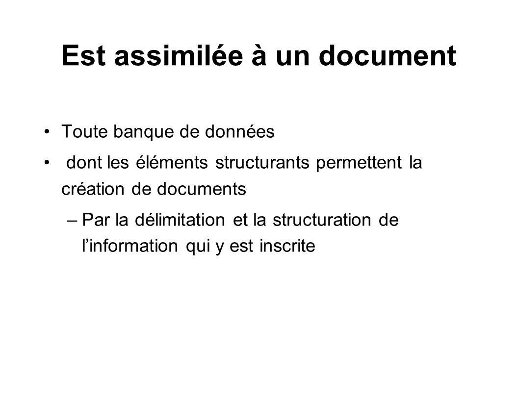 Est assimilée à un document