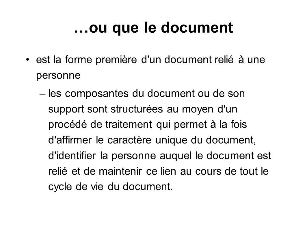 …ou que le document est la forme première d un document relié à une personne.