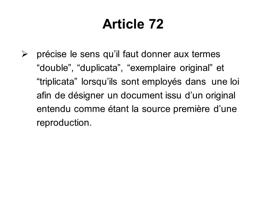 Article 72