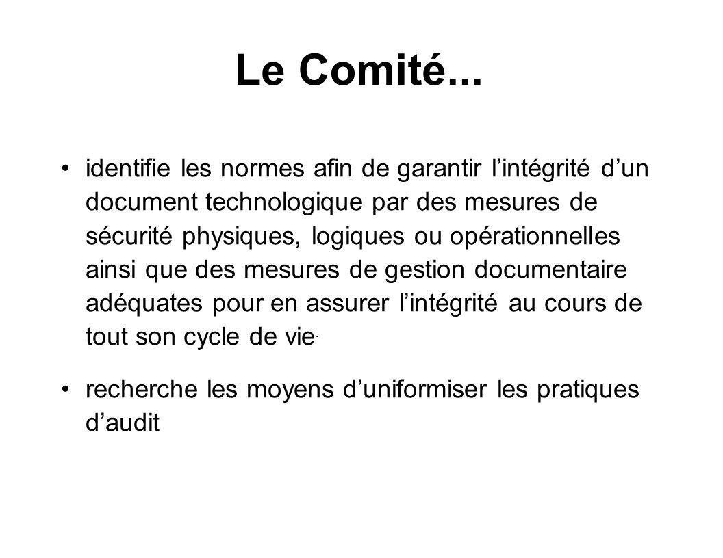 Le Comité...