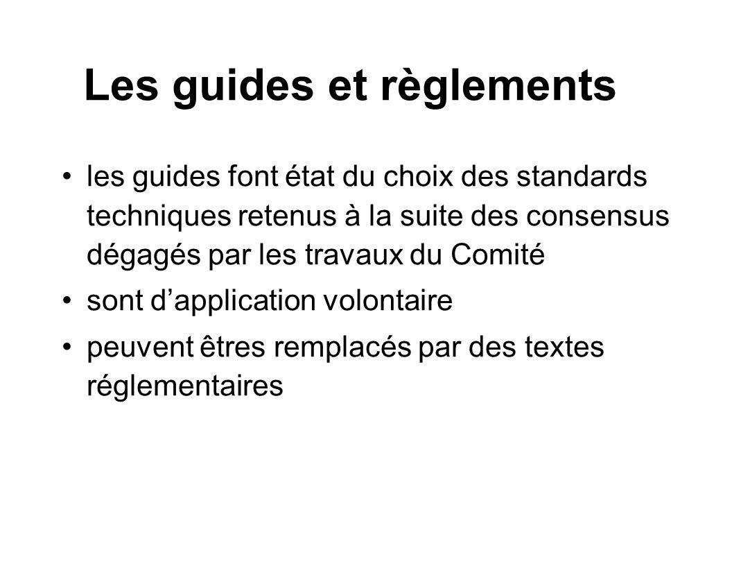 Les guides et règlements