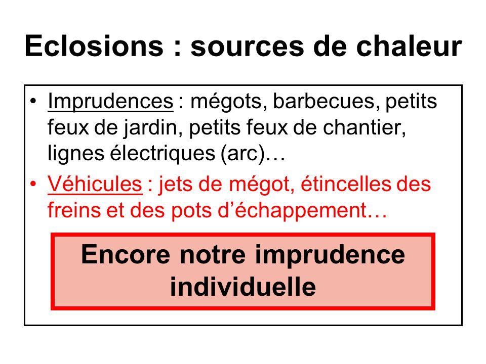 Eclosions : sources de chaleur