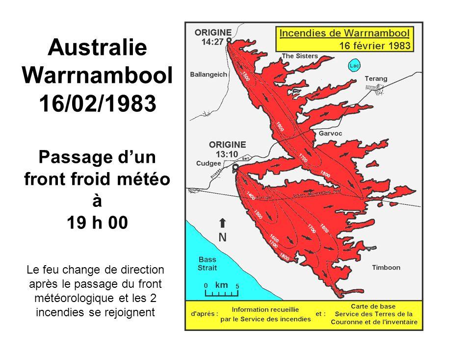 Australie Warrnambool 16/02/1983 Passage d'un front froid météo à 19 h 00