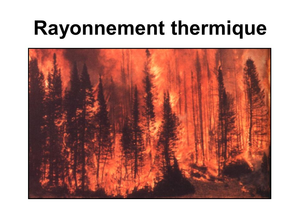 Rayonnement thermique