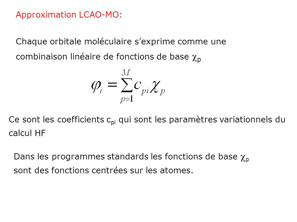 Approximation LCAO-MO: