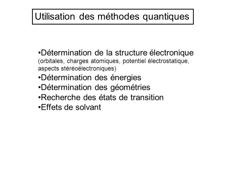 Utilisation des méthodes quantiques