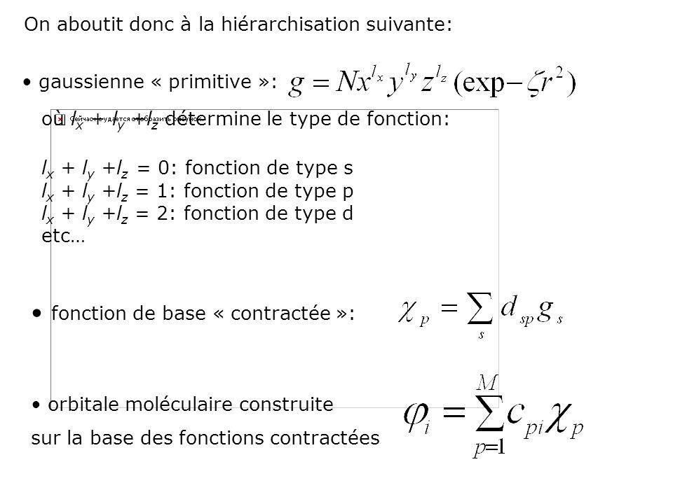 • fonction de base « contractée »: