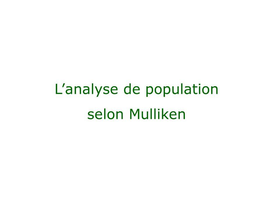 L'analyse de population