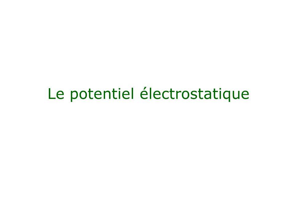 Le potentiel électrostatique