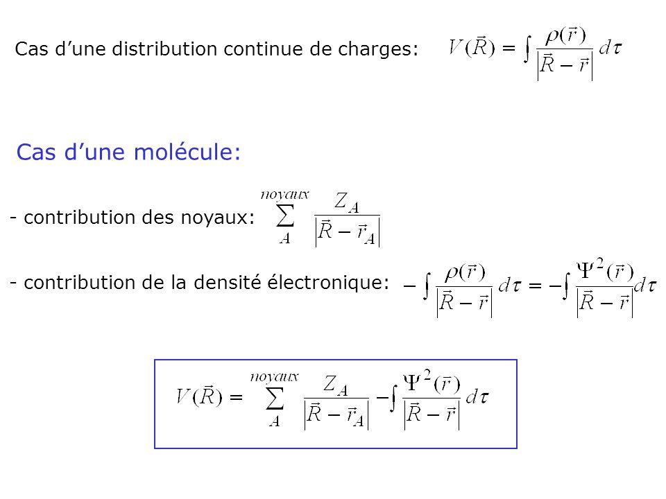 Cas d'une molécule: Cas d'une distribution continue de charges: