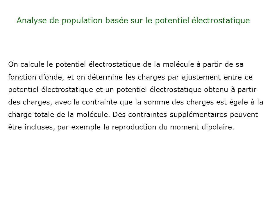 Analyse de population basée sur le potentiel électrostatique